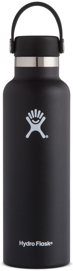Hydro Flask 21oz Standard Mouth With Flex Cap Water Bottle - Black