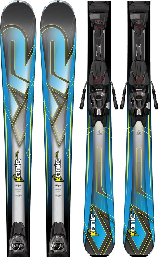 K2 Konic 76 Skis, 163cm, Blue/Black, Marker M2 10