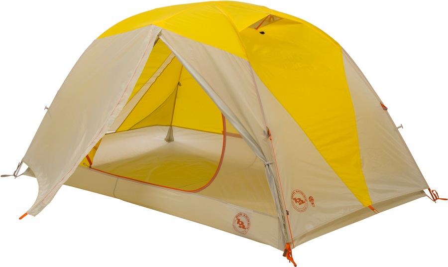 Big Agnes Tumble 2 MtnGLO Camping & Backpacking Tent 2 Man Yellow/Grey