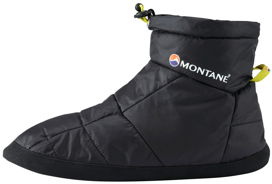 Montane Prism Bootie Insulated Camping Slippers, XS Black
