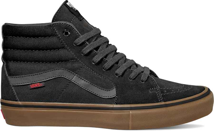 Vans Sk8-Hi Pro Skate Shoes, UK 9.5 Black/Gum