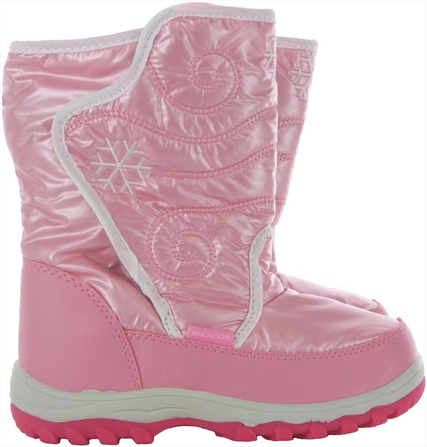 Rucanor Snowfun Kid's Snow Boots, EU 32/UK Child 13, Pink/White
