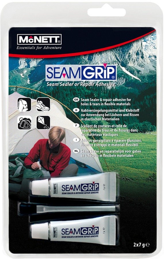 McNett Seamgrip Seam Sealer Kit Waterproof Gear Repair Adhesive 2 X 7g
