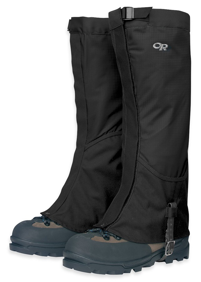 Outdoor Research Verglas Pertex High Top Boot Gaiters, L Black
