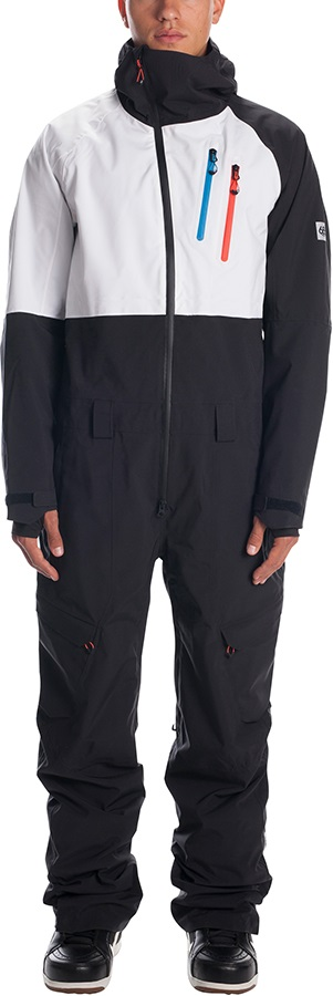 686 Hydra Coverall One Piece Ski/Snow Suit, L Black Colorblock