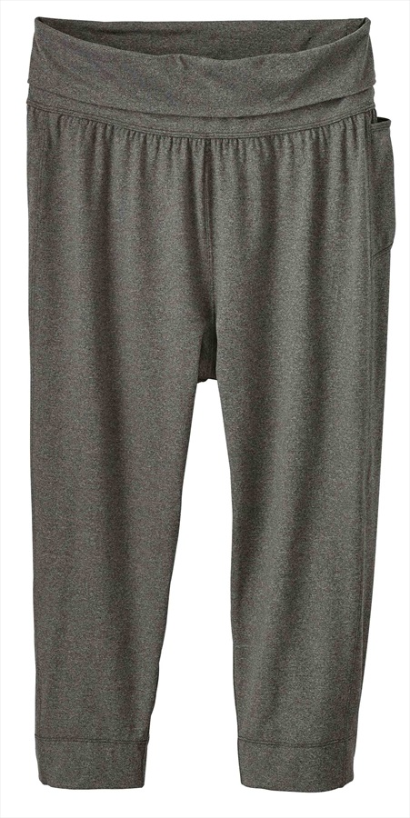 Patagonia Womens Trail Beta Capris Active Leggings, UK 12 Forge Grey