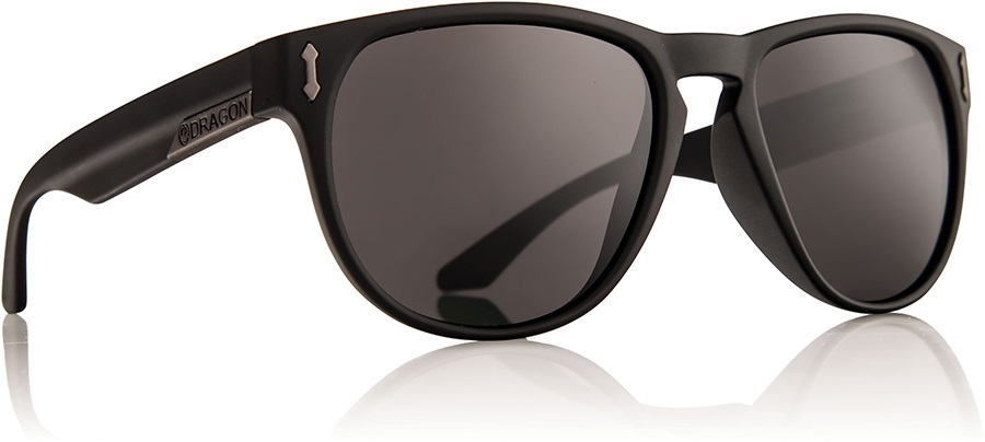 Dragon Marquis Sunglasses, L, Jet, Grey Lens