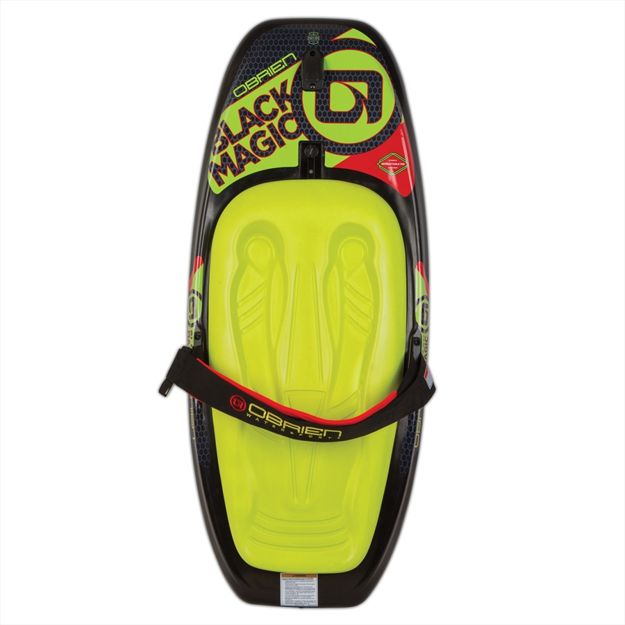 O'Brien Black Magic Roto Moulded Kneeboard, Yellow Black 2019