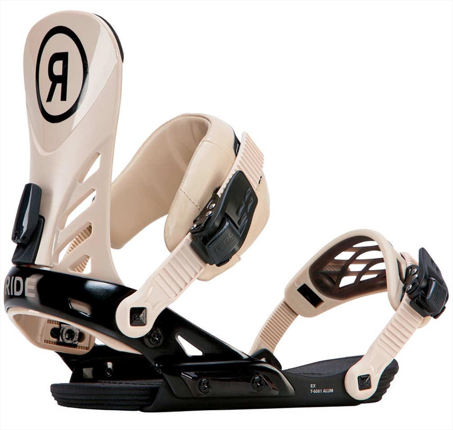 Ride Adult Unisex EX Snowboard Bindings, M Tan/Brun Pale 2018