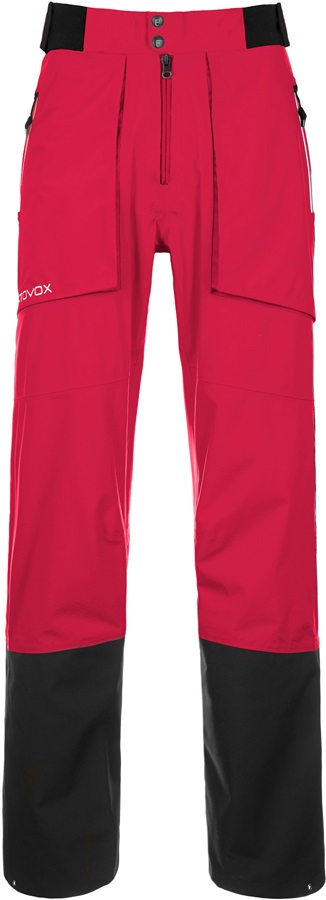 Ortovox 3L Alagna Pants Women's Ski/Snowboard Trousers, S, Very Berry