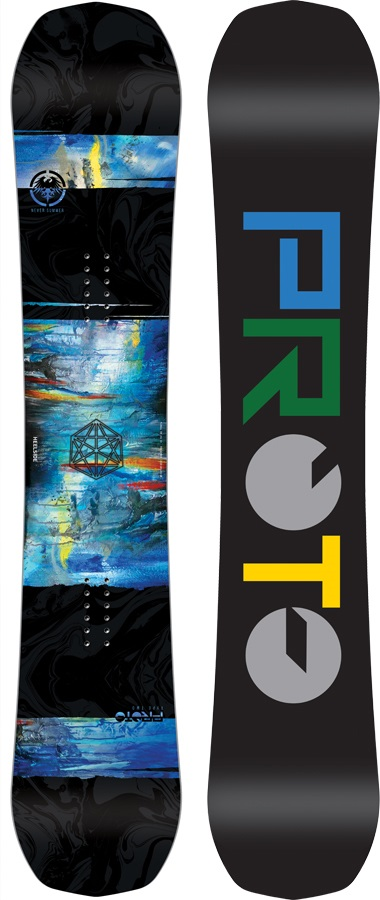 Never Summer Proto Type Two Rocker Camber Snowboard X153cm Wide 2018