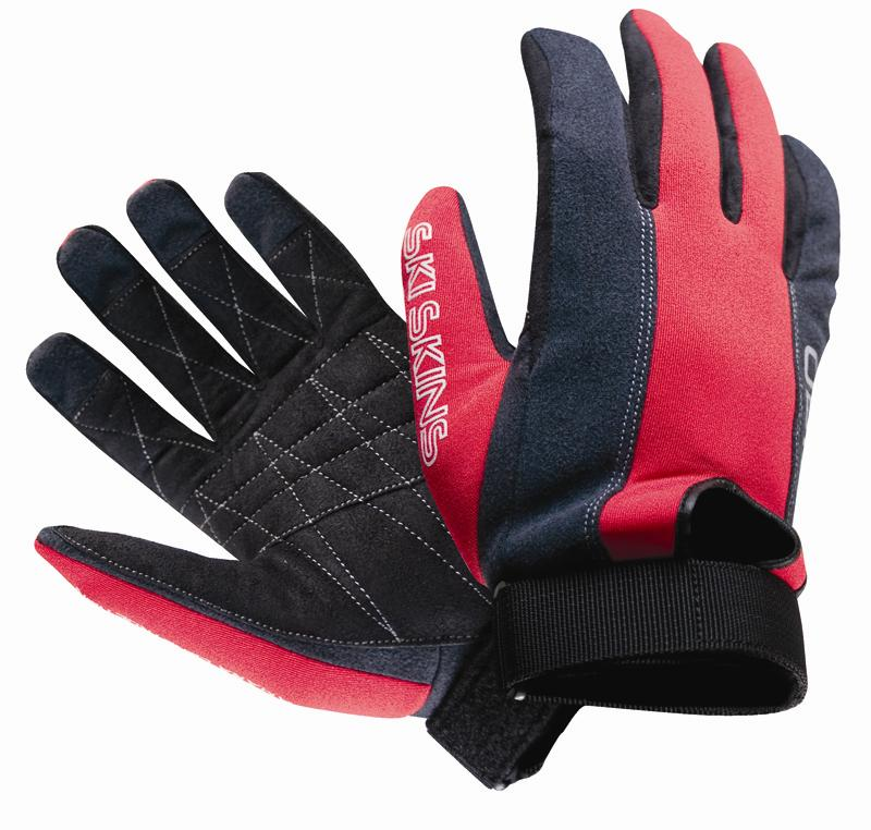 O'Brien Ski Skin Waterski Gloves, X Large, Black / Red