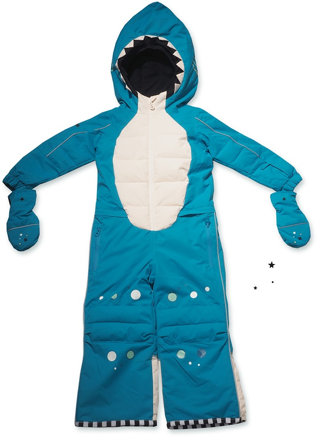 ab1569a2b8a4 WeeDo Shark Snow Suit   Mitts Kids Insulated Snow Onesie