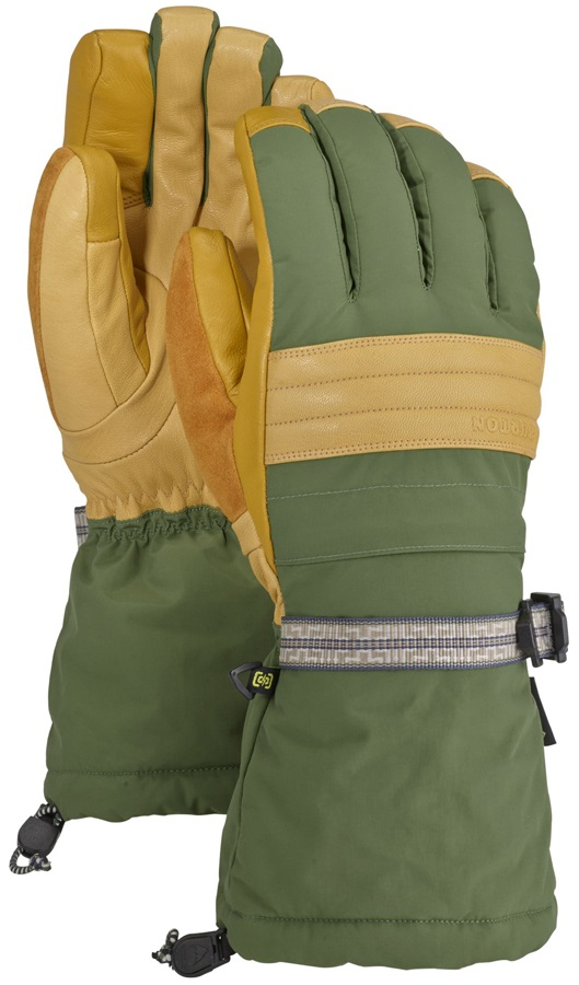 91e1ab3f2153 Burton Warmest Gore-Tex Leather Palm Ski Snowboard Gloves