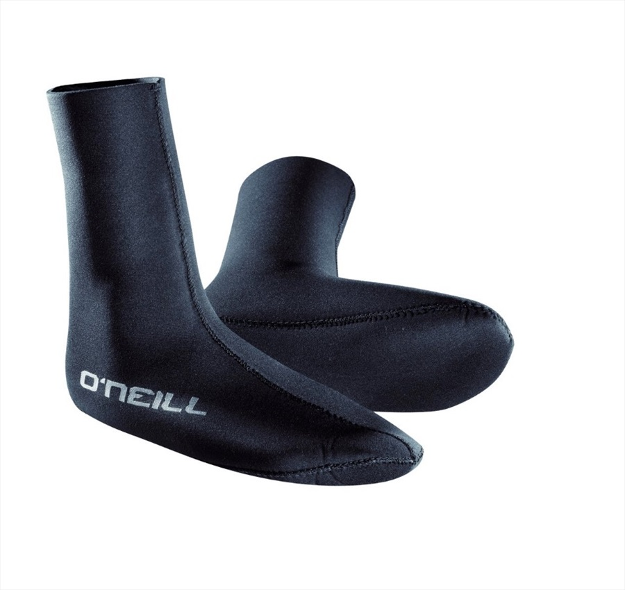 O'Neill Wetsuits 3mm HEAT Single Lined Neoprene Sock, L