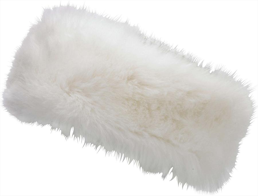 Manbi Alicia Faux Fur Winter Headband One Size Fits All Arctic White
