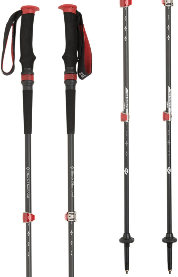 Black Diamond Trail Pro Shock Adjustable Trekking Poles 68-140cm