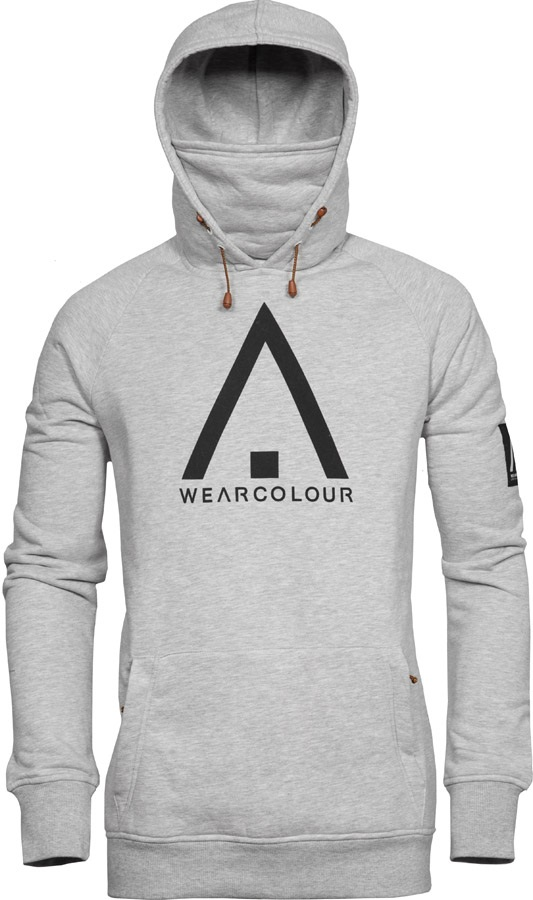Wearcolour (CLWR) Bowl Ski/Snowboard Technical Hoodie, L Grey Melange