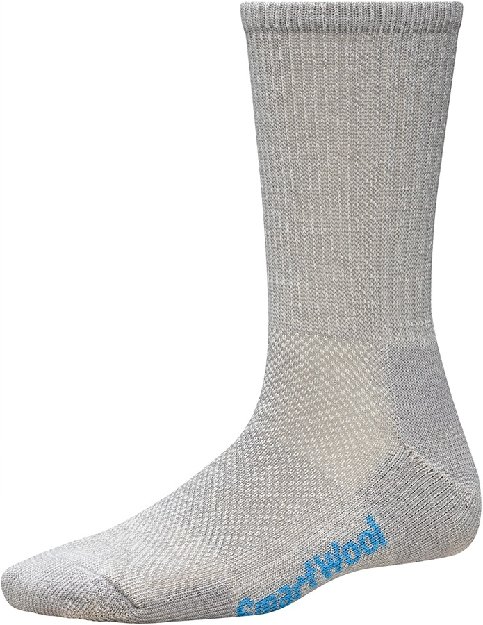 Smartwool PhD Hiking Ultra Light Crew Socks, UK 5-7.5 Light Gray