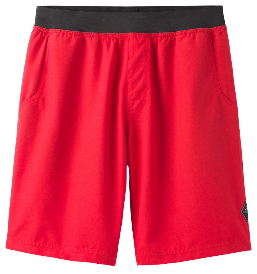 Prana Adult Unisex Mojo Bouldering/Rock Climbing Shorts, L Red Ribbon