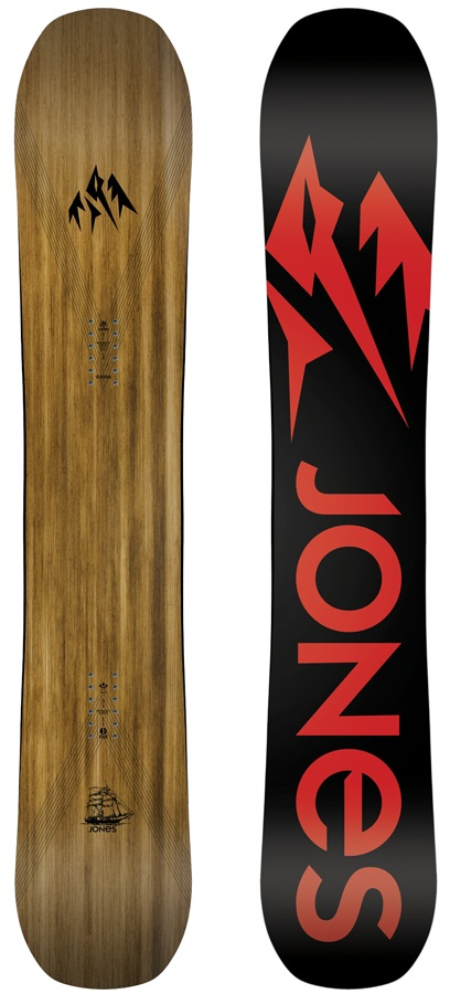 Jones Flagship Hybrid Camber Snowboard, 169cm Wide 2019
