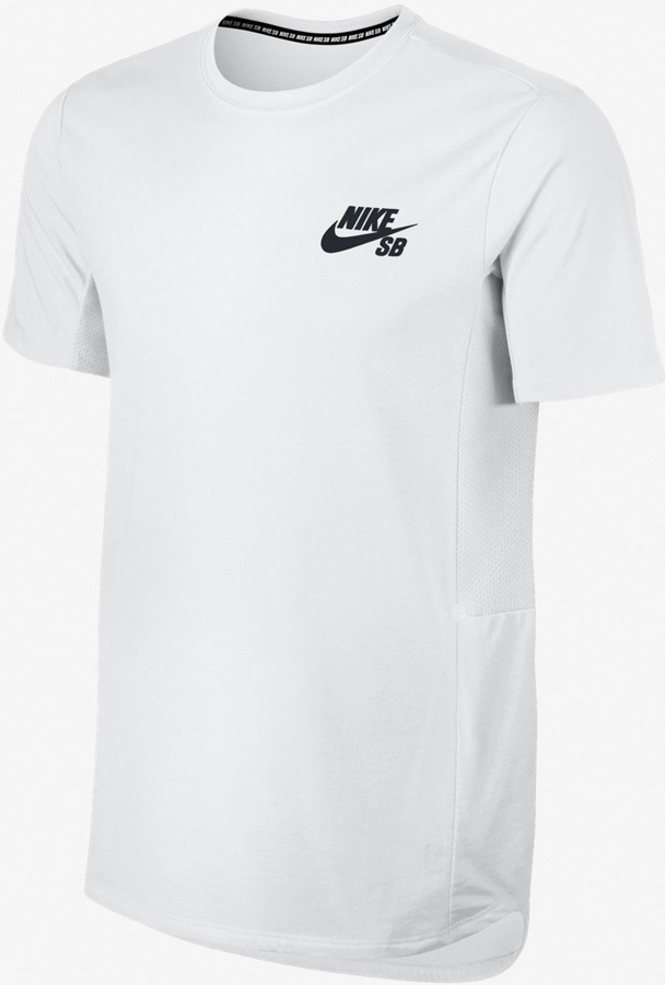 0374db407 Nike SB Mens Skyline Dri-Fit Base Layer SS T-Shirt, L White