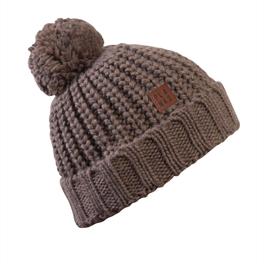 ac823c787c1 Planks Molly Women s Snowboard Ski Bobble Hat One Size Heather Oatmeal