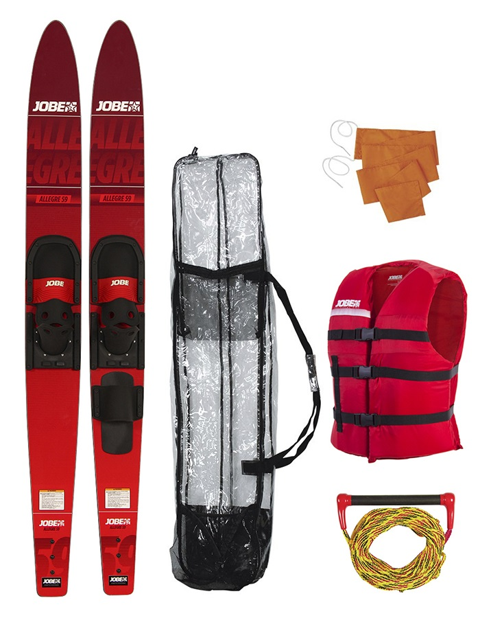 "Jobe Allegre Combo Water Ski Package, 67"" Red 2018"