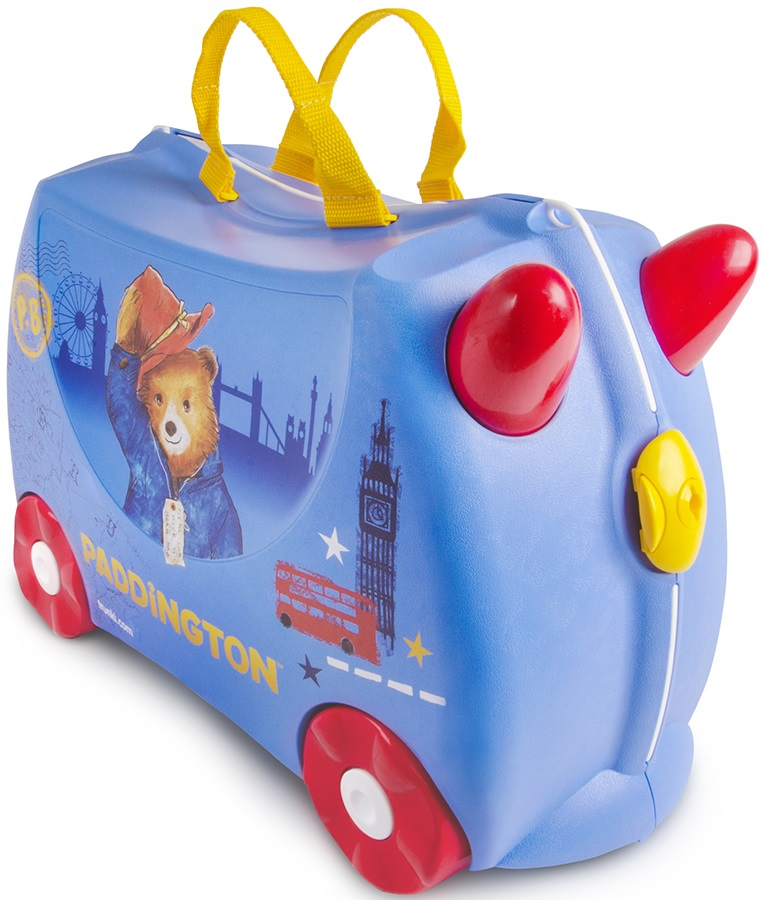 Trunki Paddington Bear Kid's Wheeled Hand Luggage, 18L Blue