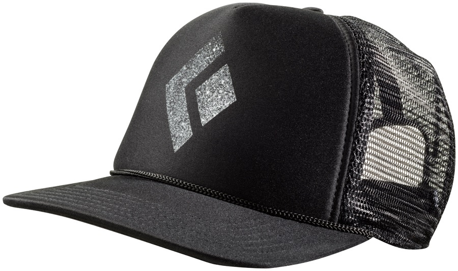 a6362c53 Black Diamond Flat Bill Trucker Hat OS Black/White