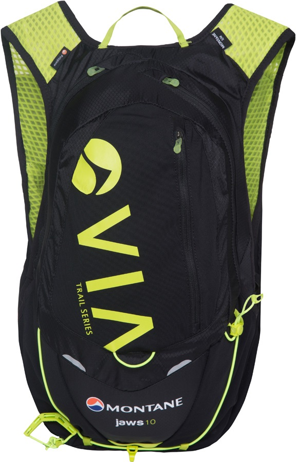 Montane VIA Jaws 10 Trail Running Vest Pack, S/M Black