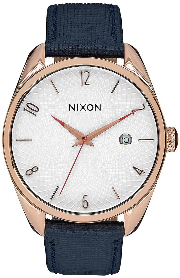 Nixon Bullet Leather Women's Watch Rose Gold/Navy