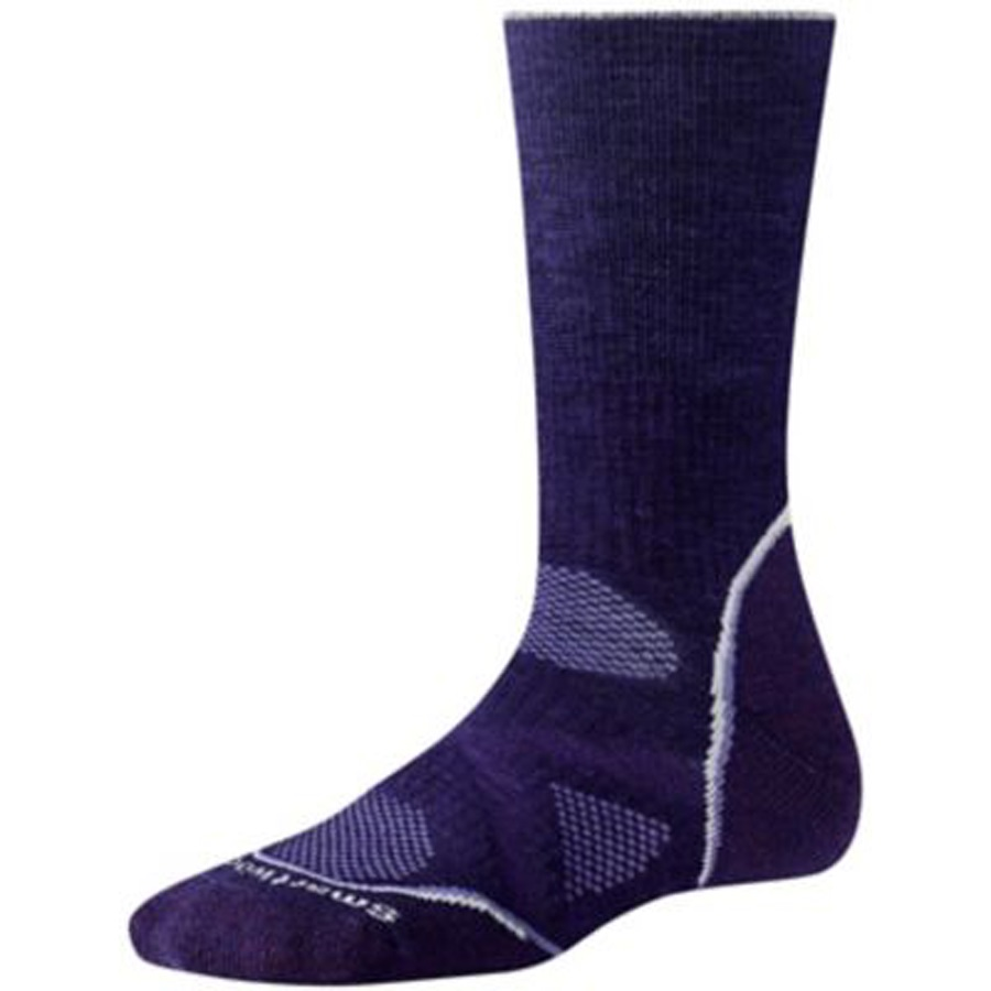 Smartwool PhD Outdoor Medium Crew Women's Hiking Socks 2-4.5 Purple