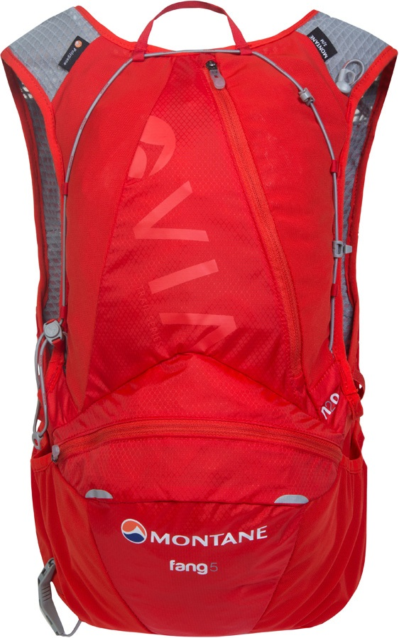 Montane VIA Fang 5 Trail Running Vest Pack, M/L Flag Red