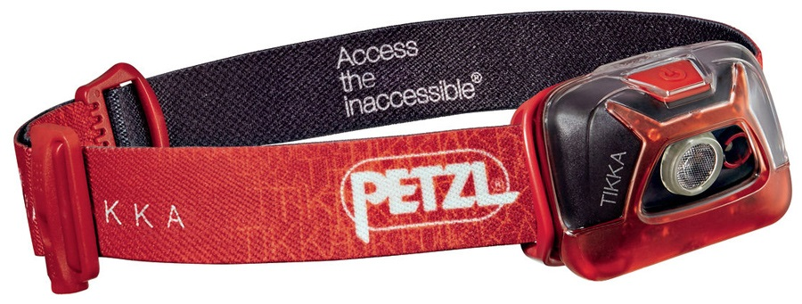 Petzl Tikka Headtorch, 200 Lumens Red