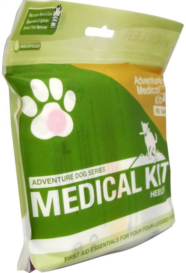 Adventure Medical Kits Heeler Pet First Aid Kit, 10 Items, Green