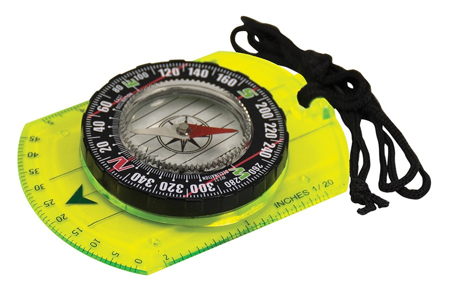 Ultimate Survival Technologies Waypoint Hi Vis Map Compass