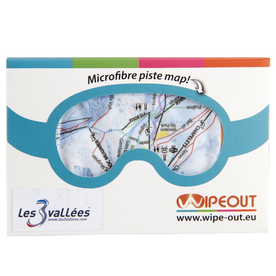 Wipeout Goggle Wipes Three Valleys Piste Map