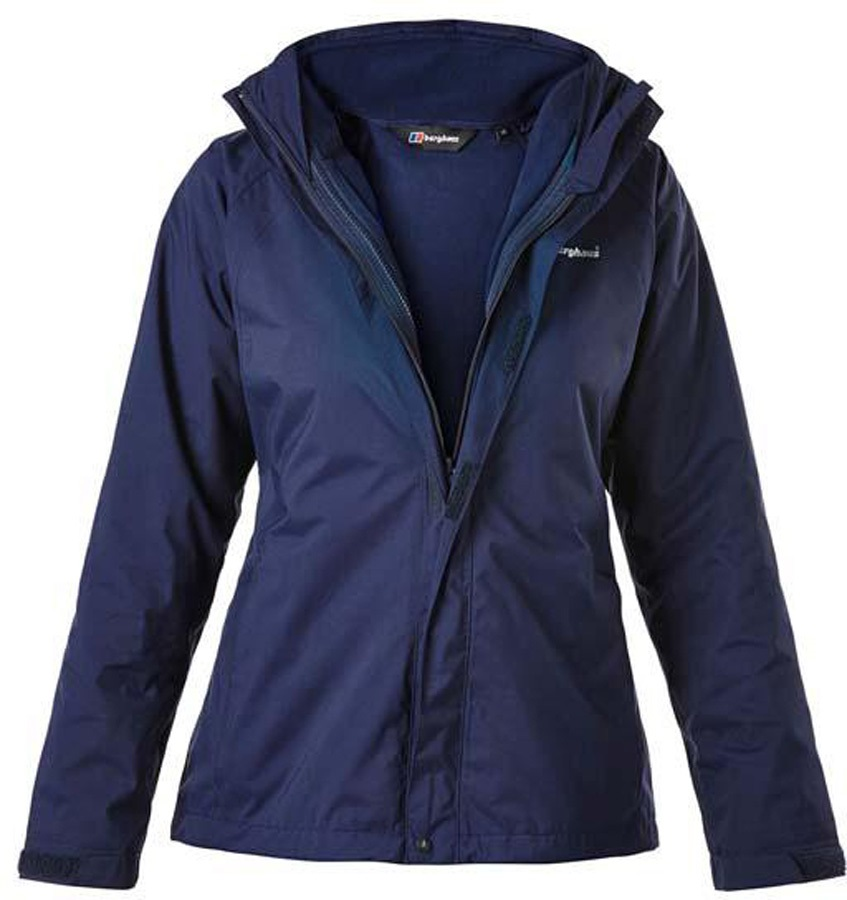 Berghaus Calisto Alpha 3in1 Women's Waterproof Jacket, 18 Evening Blue