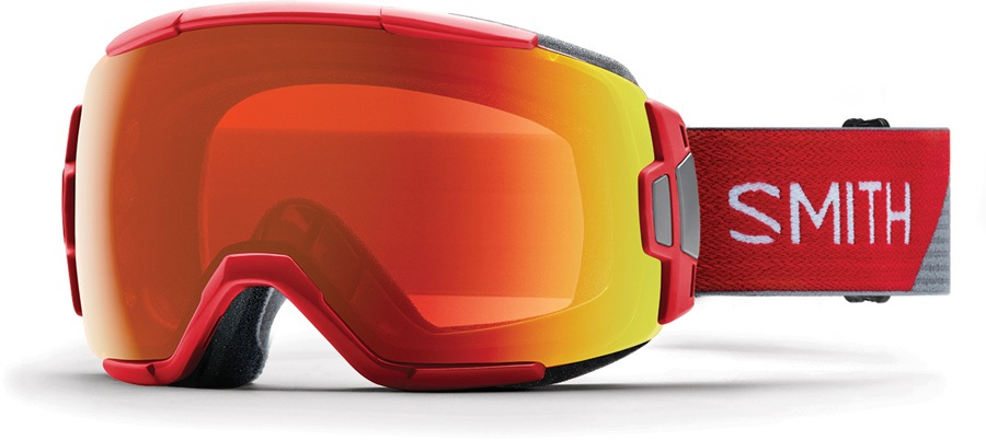 Smith Vice CP Everyday Red Snowboard/Ski Goggles, M Fire Split