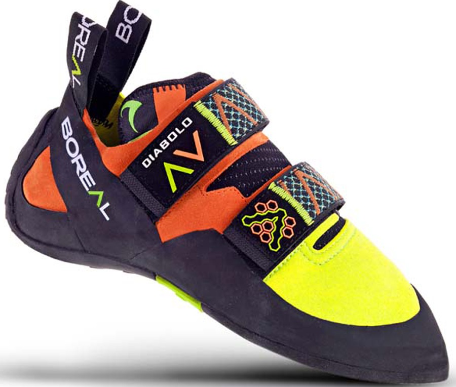 Boreal Mens Diabolo Rock Climbing Shoe, UK 6 Yellow/Orange