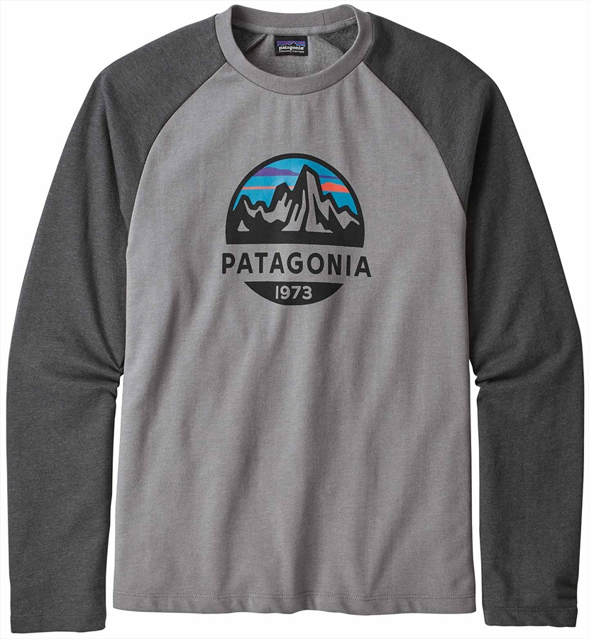 3188ab6bb1e762 Patagonia Fitz Roy Scope Light Crew Sweatshirt, S Feather Grey