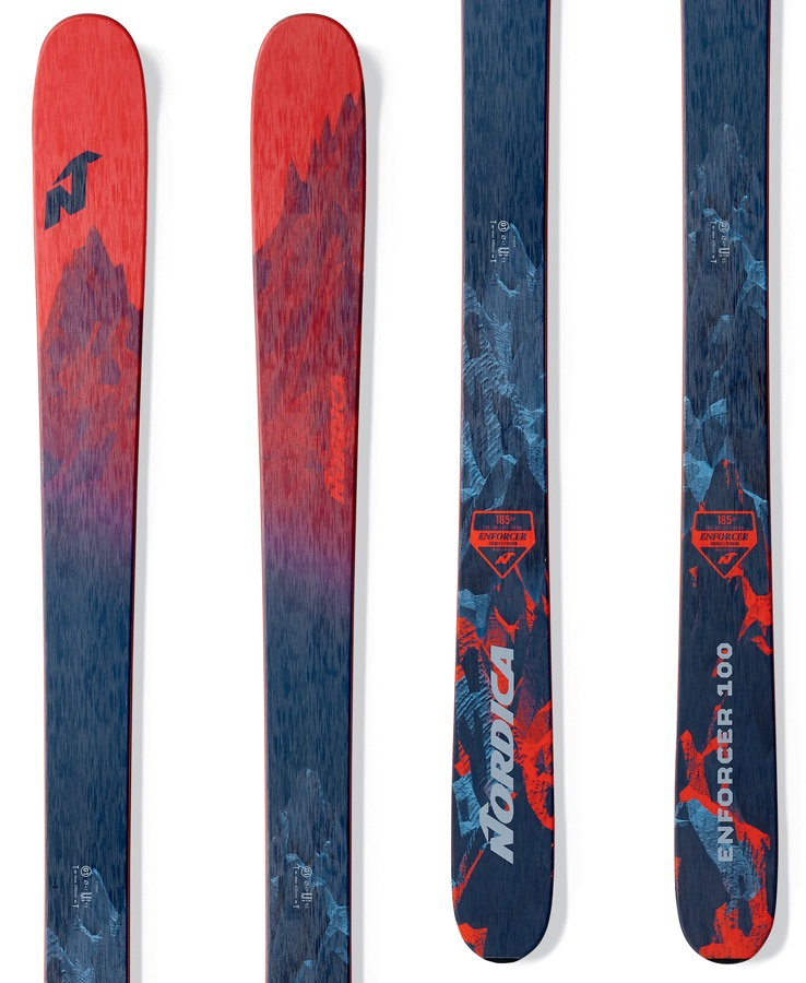 Nordica Enforcer 100 Ski Only Skis 185cm Red/Blue 2018