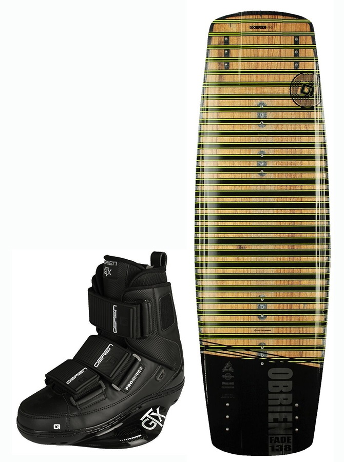 O'Brien Fade | GTX Cable Wakeboard Package, 133 | 5-7 Brown 2017
